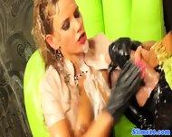 Lez Jenna Lovely Handling Strapon - scene 9