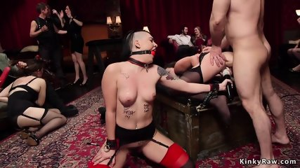 Gagged and tied up sluts anal banged