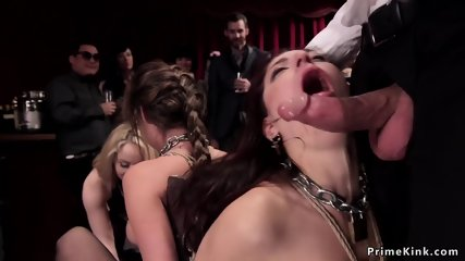 Hot subs orgy banged and spanked