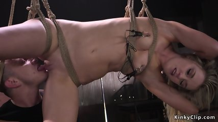 Girl next door fucked in brutal bondage