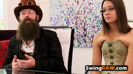 Jess and John strip down while meeting other horny swingers