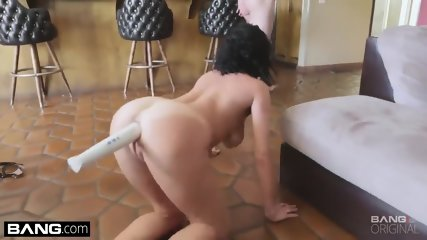 Busty MIlf with vibrator in ass sucking cock