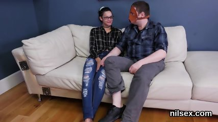 Kinky chick is brought in butthole asylum for awkward therapy
