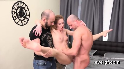 Penniless dude allows flirty buddy to fuck his exgf for hard cash