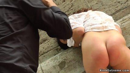 Euro amateur beauty fingered in public