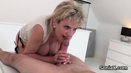 Unfaithful english milf lady sonia exposes her enormous tits