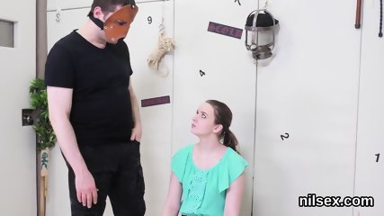 Sexy teen is taken in anal nuthouse for harsh treatment