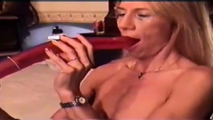 Largest dildo deepthroat previously