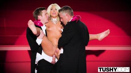 TUSHY Adriana Chechik Gets Triple Teamed And Gaped! - scene 9