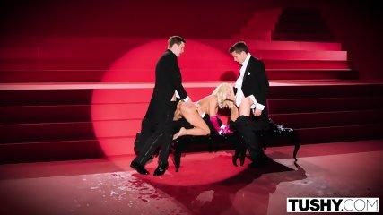 TUSHY Adriana Chechik Gets Triple Teamed And Gaped! - scene 11