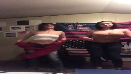 2 Teen girls stripping and dancing