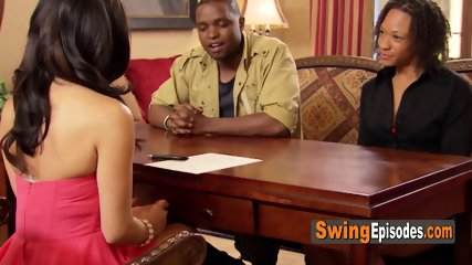 Swinger black guy hopes to see a lot of hot people in the Swing House. He wants to be able to pick.