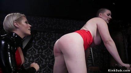 Milf dominatrix anal fucks brunette