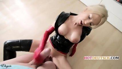 Hot German Latex Bitch Fucked