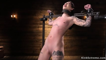 Alt raven haired slave tormented in device
