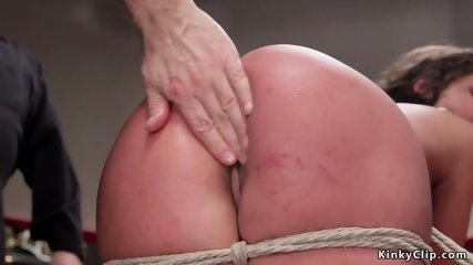 Big booty cheerleader whipped in dungeon