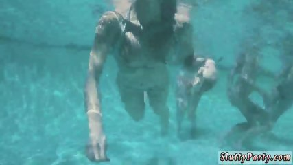 Amateur teen blowjob xxx Summer Pool Party