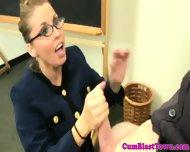 Busty Mature Teacher Classroom Bukkake