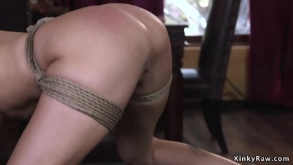 Dude anal fucked tied up landlord