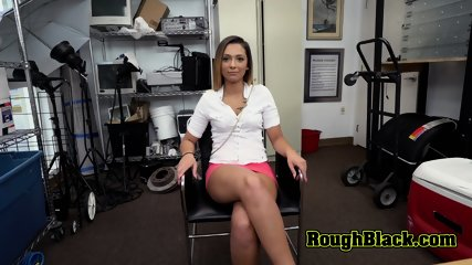 Hot teen whines as she takes directors cock deep and hard