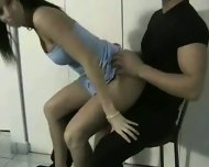Slutty Lap Dancer gets hot - scene 1