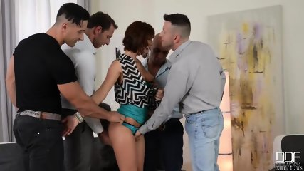 Luxury wife gets the gift of gangbang from her Kinky Husband by XMILF.US
