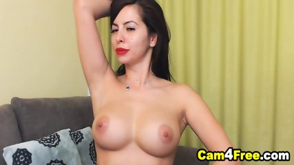 Perfect Body Brunette With Round Tits Finger Fuck Her Pussy
