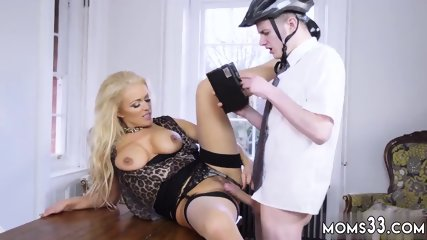 Big ass oiled blonde milf and strapon huge tits Having Her Way With A Rookie