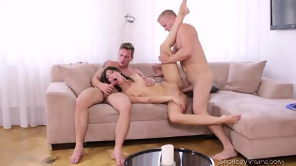 Slutty Teen Takes Two Cocks - scene 8