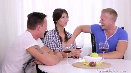 Slutty Teen Takes Two Cocks - scene 1