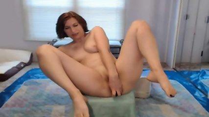 12 Inch Dildo all in her own Ass + Bottle of spray