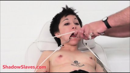 Bizarre asian bdsm of Mei Mara in medial fetish and tied facial humiliation of punished oriental slaveslut in electro shock torments