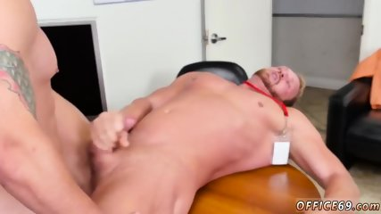 Straight guys fingering themselves gay First day at work
