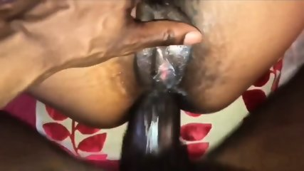 Taking daddy's dick deep in my ass- cream pie