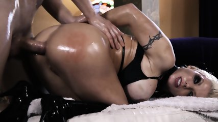 Oiled Whore Rammed Hard