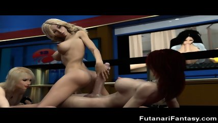 3D Tgirls Fuck Girls and Tgirls!