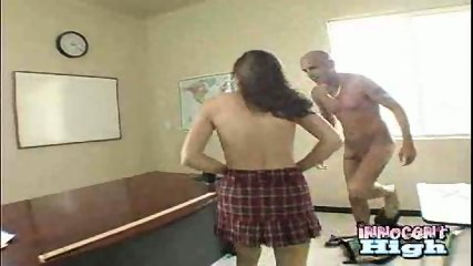 Schoolgirl fucks Baldy Man - scene 2