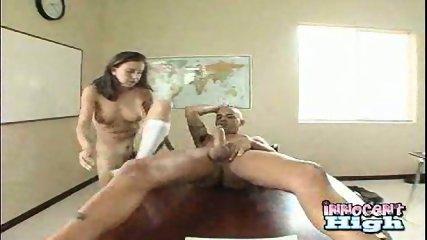 Schoolgirl fucks Baldy Man