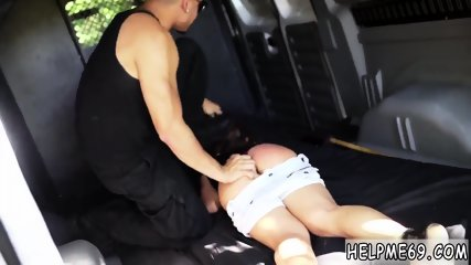 Rough spanking doggy He parks out in the middle of the forest and tosses her in the back