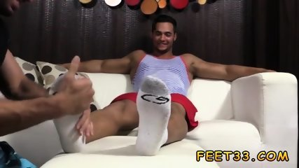 Male foot humiliation and cock box fetish gay Tony Rock s Feet Worshiped