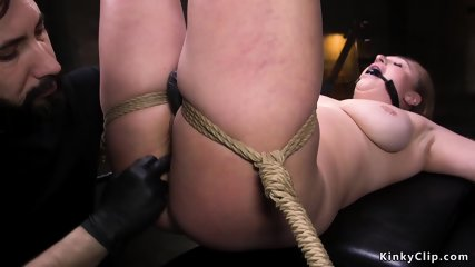 Curvy slave caned and anal fucked bdsm