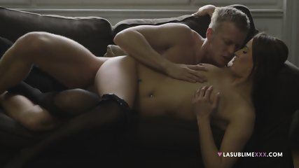 Very Hot Sex On Couch