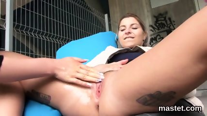 Frisky czech chick stretches her pink quim to the unusual