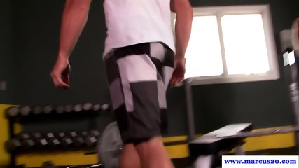 Gym buddy spots jocks cock ripe for sucking