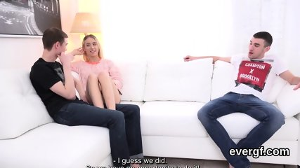 Skint boyfriend lets horny buddy to bang his ex-girlfriend for bucks