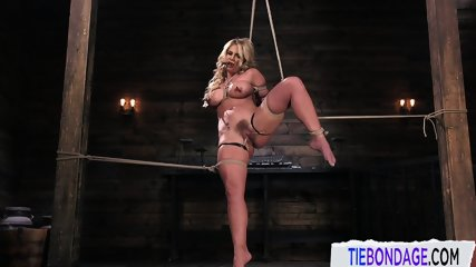 Bound MILF Punished During BDSM Fetish