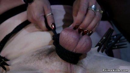 Face sitting mistress above male slave
