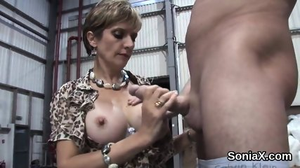 Adulterous british milf lady sonia exposes her big titties