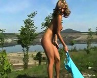 Zuzana nude in Nature - scene 12