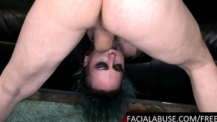 Sloppy gothic cunt throat pulverized